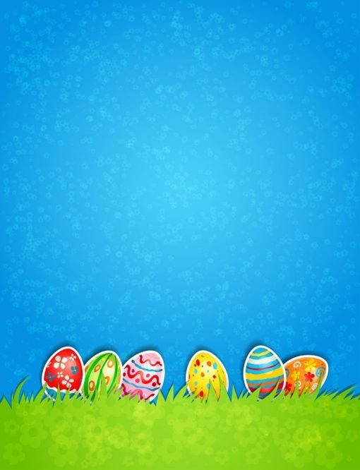 Easter-background-stuck-on-eggs