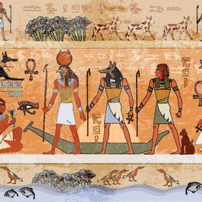 Egptian-wall-painting