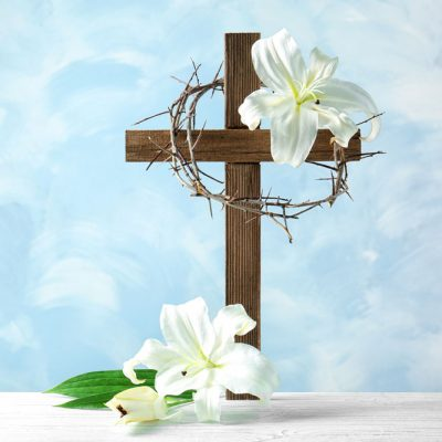 Easter-cross-crown-lillies
