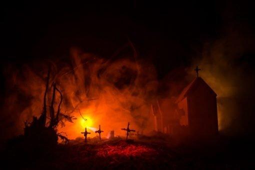 Graveyard-orange-light-backdrop